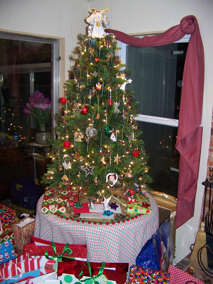 Our Christmas tree taken with the flash.