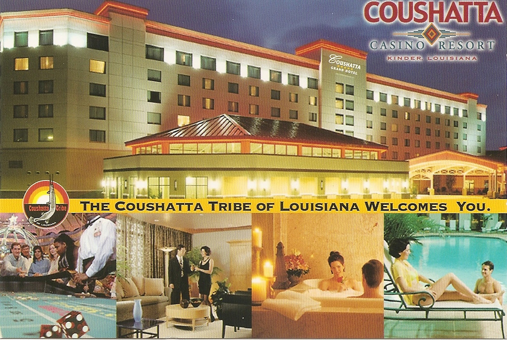 Here's another postcard of the Coushatta Casino Resort that I bought and scanned.<br /> Unfortunately, I got super sick during our time here (I think it was the norovirus), so that definitely colored my impression of our little getaway.  I don't think I picked up the bug here, so there's no hard feelings.  However, the virus hit me with full force right before I went to bed on the evening we stayed here.  I had a great time up until the puking started!  :-)
