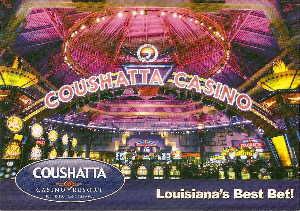 They didn't allow any photography in the casino, so I bought and scanned this postcard.  The casino is quite large and had a good variety of machines.<br /> [Coushatta Casino Resort]