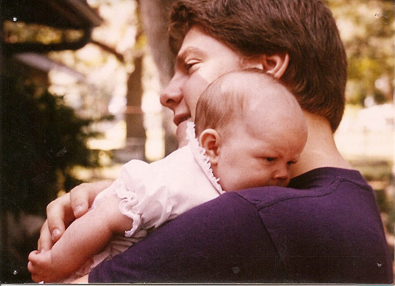 Jenna and Uncle Jon outside the Mary Blvd. house, summer 1984.