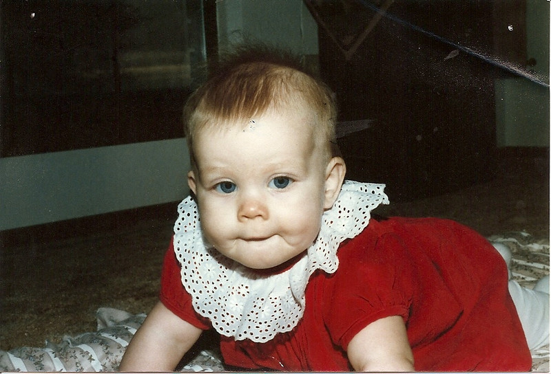 Jenna, Christmas 1984.