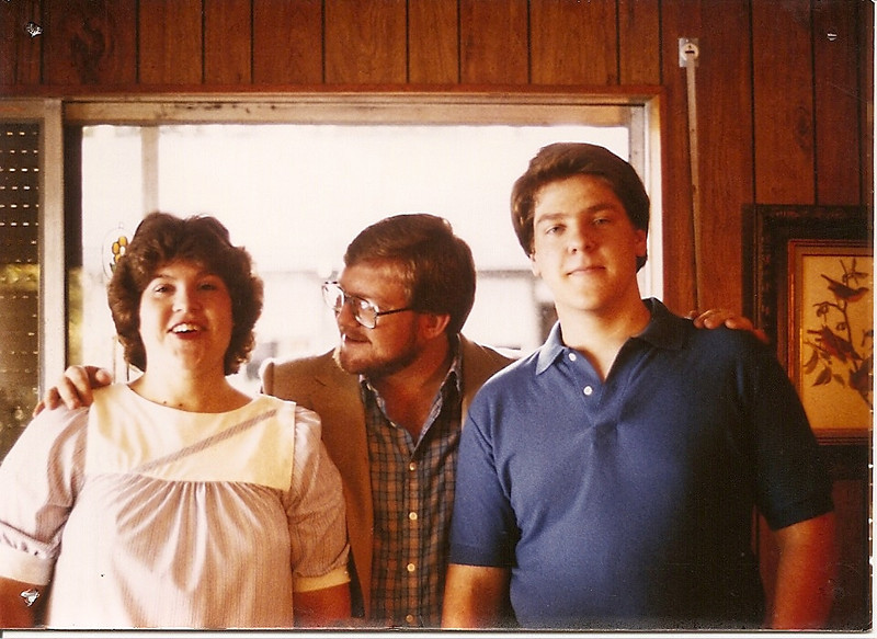 Wendy, Mark, and Jon in the Mary Blvd. living room, about 1984.
