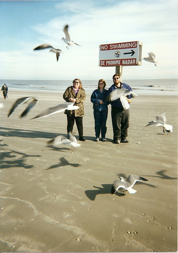 Wendy, Jenna, and Jon.  I think this was at South Padre, but I don't remember the year (early 2000s?).