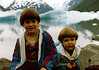 September 1980 - (Portage Glacier, Alaska) - Michael and Jonathon