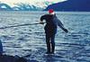 May 22, 1981 - (Turnagain Arm, Alaska) - David fishing for hooligan