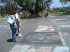 Chalk Art from Memorial Day Event at SB Mission
