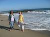 Walking the Ventura beach
