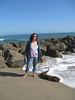 Carol on beach at Ventura