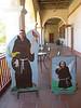 Friar Photo Op at SB Mission