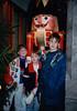 Jonathon, Andrew & Michael with Holzknackl [nutcracker] at Käthe Wohlfahrt Weihnachtsmärkte - (December 22, 1987 / Rothenburg ob der Tauber, Ansbach District, Mittelfranken, Bavaria, West Germany) -- Jonathon, Andrew & Michael