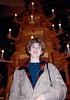 MaryAnne with Pyramiden at Käthe Wohlfahrt Weihnachtsmärkte - (December 22, 1987 / Rothenburg ob der Tauber, Ansbach District, Mittelfranken, Bavaria, West Germany) -- MaryAnne