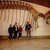 Jonathon, Michael, Andrew, and David in the Naturmuseum Senckenberg [Natural History Museum] - (December 26, 1988 / Frankfurt am Main, Hesse, West Germany) -- Jonathon, Michael, Andrew, and David