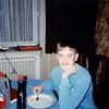 Michael at breakfast - (December 11, 1988 / Obere Hohl, Gimsbach, Rheinland-Pfalz, West Germany) -- Michael