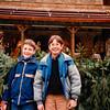 Jonathon and classmate shopping the Mainz Weihnachtmarkt [Christmas market] - (December 6, 1988 / Mainz, Rheinland-Pfalz, West Germany) -- Jonathon
