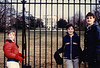 Andrew, Jonathon & Michael in front of the White House (February 11, 1989 / 1600 Pennsylvania Avenue, Washington, DC) -- Andrew, Jonathon & Michael