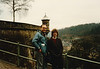 David & MaryAnne on the ramparts (January 13, 1989 / Luxembourg, Grand Duchy of Luxembourg) -- David & MaryAnne
