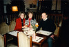 Pat, MaryAnne & David at Schloss Föckelberg am Potzberg Restaurant (January 4, 1989 / Föckelberg, Potzberg, Rheinland-Pfalz, West Germany) -- Pat, MaryAnne & David