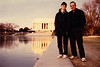 Michael & David in front of the Lincoln Memorial (February 11, 1989 / Washington, DC) -- Michael & David