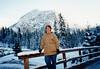 MaryAnne at the Eibsee (November 25, 1990 / Eibsee, Garmisch-Partenkirchen district, Bavaria, West Germany) -- MaryAnne