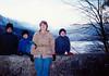 Michael, Jonathon, MaryAnne & Andrew at Alpsee (November 24, 1990 / Hohenschwangau, Schwangau, Ostallgäu district, Bavaria, Germany) -- Michael, Jonathon, MaryAnne & Andrew