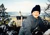 Andrew in front of Neuschwanstein Castle (November 24, 1990 / Hohenschwangau, Schwangau, Ostallgäu district, Bavaria, Germany) -- Andrew