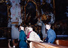 Michael, MaryAnne & Andrew in front of Ettal Monestary [Kloster Ettal] (November 22, 1990 / Ettal, Garmisch-Partenkirchen district, Bavaria, West Germany) -- Michael, MaryAnne & Andrew