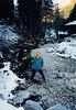David near the Eibsee (November 25, 1990 / Eibsee, Garmisch-Partenkirchen district, Bavaria, West Germany) -- David