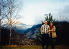David & MaryAnne in Austria front of the Zugspitze (November 23, 1990 / Zugspitze, Tyrol, Reutte District, Austria) -- David & MaryAnne