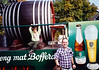 David in front of a Bofferding Beer Wagon at the Vianden Walnut Festival (October 14, 1990 / Vianden, Diekirch District, Luxembourg) -- David