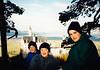 Jonathon, Andrew & Michael in front of Neuschwanstein Castle (November 24, 1990 / Hohenschwangau, Schwangau, Ostallgäu district, Bavaria, Germany) -- Jonathon, Andrew & Michael