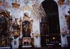 Ettal Monestary (interior) [Kloster Ettal] (November 22, 1990 / Ettal, Garmisch-Partenkirchen district, Bavaria, West Germany) -- Ettal Monestary