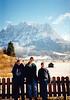 Jonathon, Michael & Andrew in Austria in front of the Zugspitze (November 23, 1990 / Zugspitze, Tyrol, Reutte District, Austria) -- Jonathon, Michael & Andrew