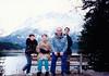 Jonathon, Andrew, David & Michael at the Eibsee (November 25, 1990 / Eibsee, Garmisch-Partenkirchen district, Bavaria, West Germany) -- Jonathon, Andrew, David & Michael