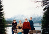 Jonathon, Andrew, MaryAnne & Michael at the Eibsee (November 25, 1990 / Eibsee, Garmisch-Partenkirchen district, Bavaria, West Germany) -- Jonathon, Andrew, MaryAnne & Michael