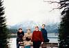 Jonathon, Andrew, MaryAnne & Michael at the Eibsee (November 25, 1990 / Eibsee, Garmisch-Partenkirchen district, Bavaria, West Germany) -- Jonathon, Andrew, MaryAnne & Michael