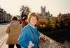 MaryAnne at Abbey Church of Saint Peter and Saint Paul (April 6, 1990 / Bath Abbey, Bath, Somerset County, England, United Kingdom) -- MaryAnne