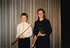 Andrew with his teacher Kathy Pelletier at Flute recital (March 2, 1990 / Hauptstuhl, Rheinland-Pfalz, West Germany) -- Andrew & Kathy Pelletier