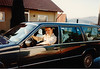 David at home with our new Volvo (February 14, 1990 / Obere Hohl, Gimsbach, Rheinland-Pfalz, West Germany) -- David