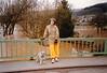 MaryAnne & Max at flooded Glan River in Matzenbach (February 28, 1990 / West Germany, Rheinland Pfalz, Matzenbach, Eisenbacher Straße) -- MaryAnne & Max