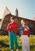 Jonathon & Andrew at Ardmore Round Tower and Monastery ruins (April 7, 1990 / Ardmore, County Waterford, Ireland) -- Jonathon & Andrew