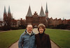 "David & MaryAnne in Lübeck with Holstein Gate ""Holstentor"" (February 13, 1990 / Lübeck, Schleswig-Holstein, West Germany) -- David & MaryAnne"