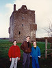 Jonathon, Michael & Andrew in front of Ballymallis Castle (April 12, 1990 / Killorglin, County Kerry, Ireland) -- Jonathon, Michael & Andrew