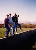 Andrew, Jonathon, Cristen & Michael at Killorglin cottage (April 8, 1990 / Killorglin, County Kerry, Ireland) -- Andrew, Jonathon, Cristen & Michael