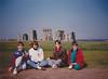 Andrew, Cristen, Michael & Jonathon at Stonehenge (April 6, 1990 / Stonehenge, Amesbury, Wiltshire County, England, United Kingdom) -- Andrew, Cristen, Michael & Jonathon