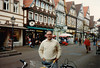 David in Celle shopping area (February 13, 1990 / Celle, Lower Saxony, West Germany) -- David