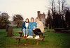 Cristen, MaryAnne & Pat Crowley at Cardiff Castle (April 6, 1990 / Cardiff, Glamorgan County, Wales, United Kingdom) -- Cristen, MaryAnne & Pat Crowley