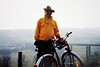 David on a bicycle ride near Quirnbach (March 15, 1991 / Quirnbach, Rheinland-Pfalz, West Germany) -- David