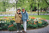 Mary Anne & David with Dutch tulips (April 18, 1991 /  Maastricht, Limburg, The Netherlands [Holland]) -- MaryAnne & David