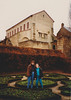 Cristen & Andrew in front of Saint Pierre aux Nonnains Basilica (January 4, 1991 / Metz, Lorraine, France) -- Cristen & Andrew
