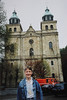 Andrew at the Cathedral of Saints Peter, Paul and Quirinus in Malmedy (April 18, 1991 / Malmedy, Liège, Walloon Region, Belgium) -- Andrew